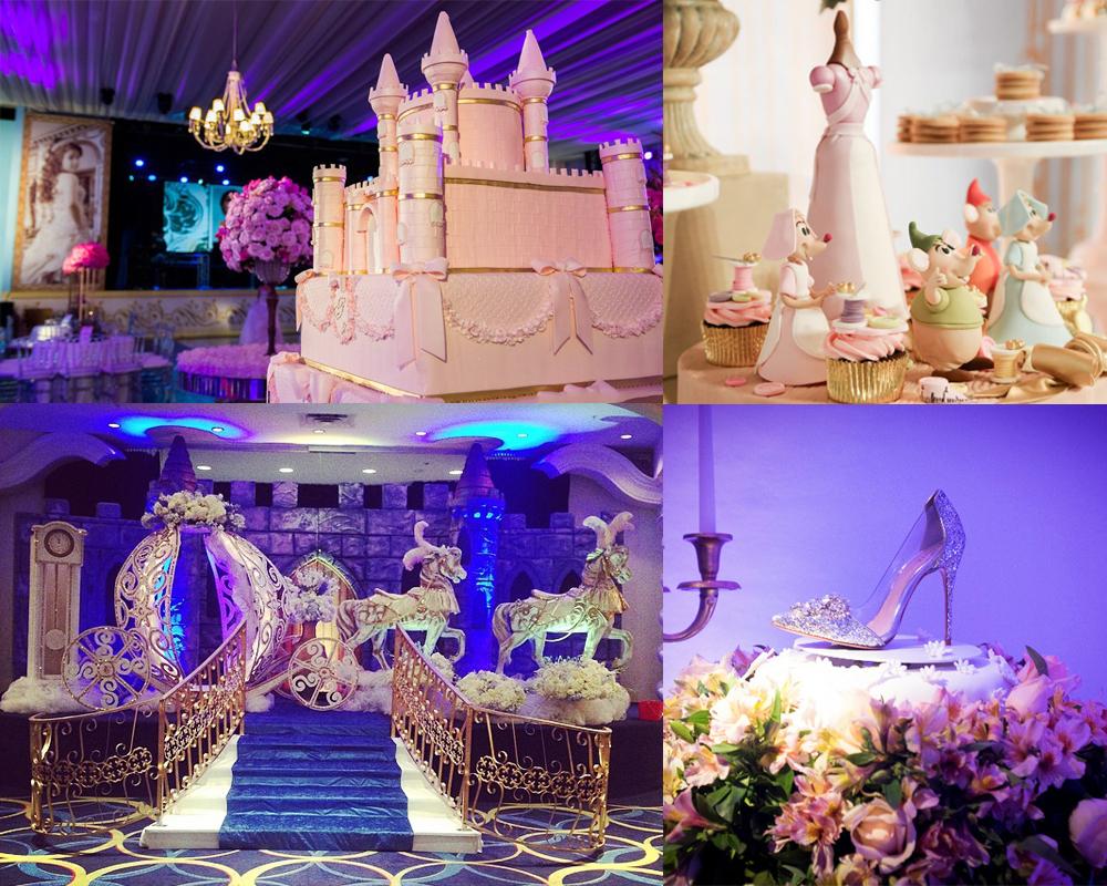 blog cinderela festa debutante 15 anos vestido azul princesa 1