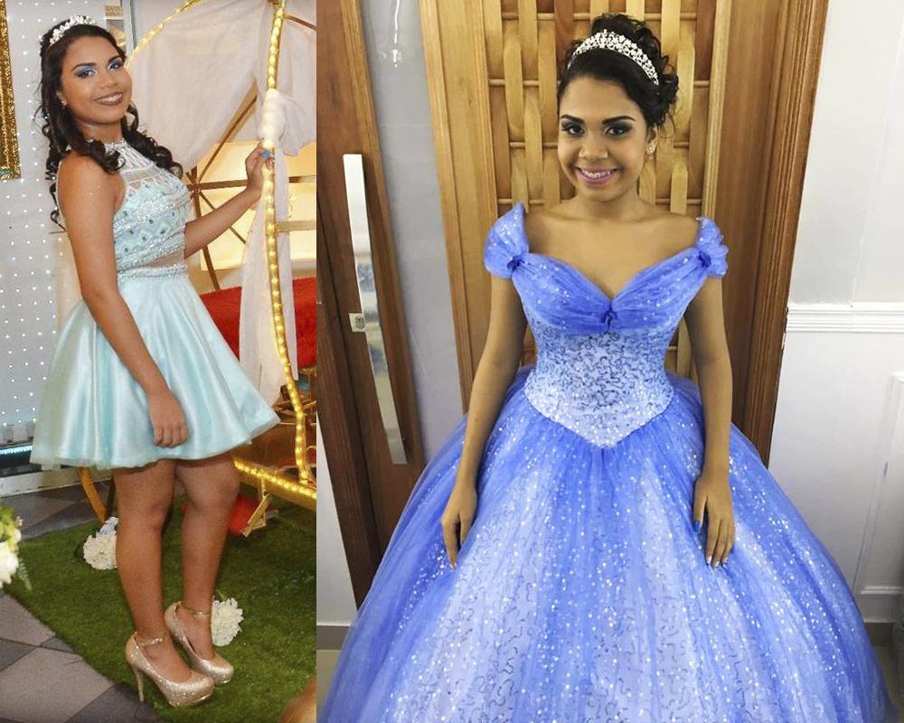 blog cinderela festa debutante 15 anos vestido azul princesa 10