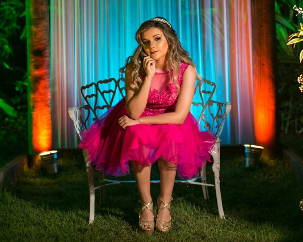 blog deb maisa princesa vestido 15 anos fada jardim encantado rosa pink 6