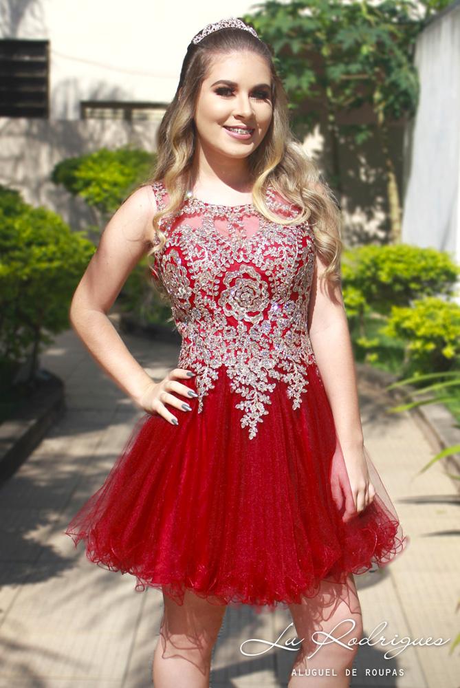 621d18395652 72 vestido debutante 15 anos curto princesa mersala vermelho 2 | Lu ...