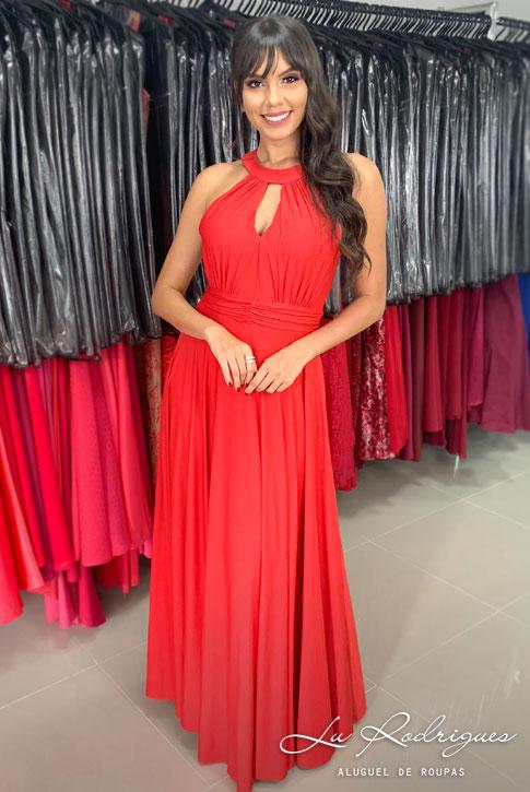 519 1 Vestido Festa Madrinha Vermelho Lu Rodrigues