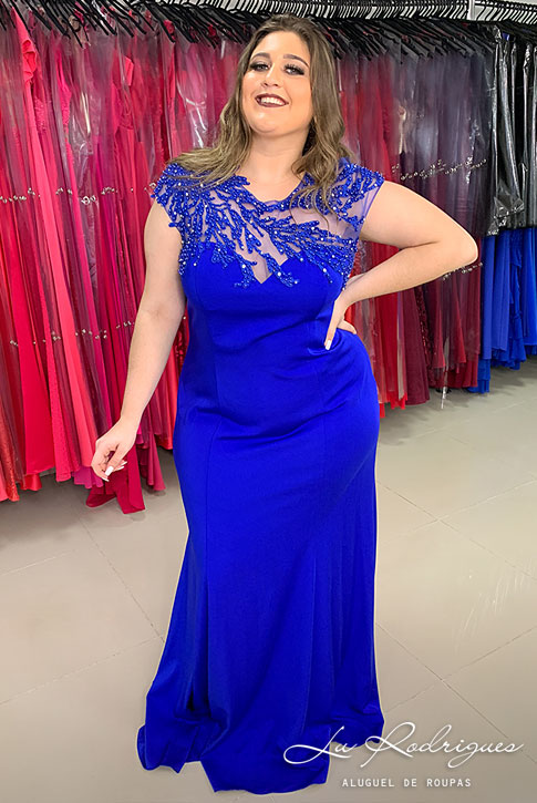 150 1 Vestido Madrinha Festa Azul Royal Lu Rodrigues
