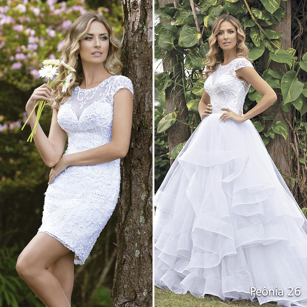 vestido de noiva rodado